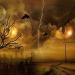 pesadilla ojos en el cielo