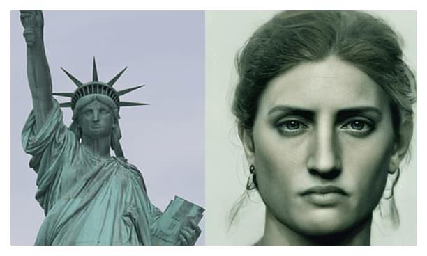 Estatua de la Libertad realista