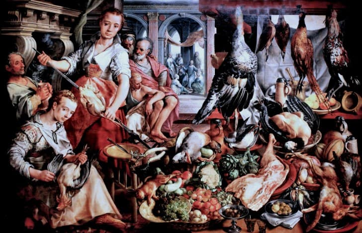 Joachim Beuckelaer la cocina bien equipada