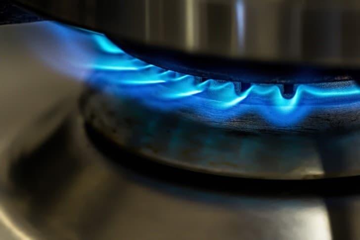 flama de una estufa