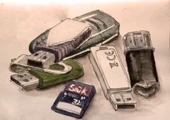 ¿Una memoria USB aumenta de peso al almacenar información?