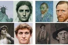 retratos realistas de famosos del pasado