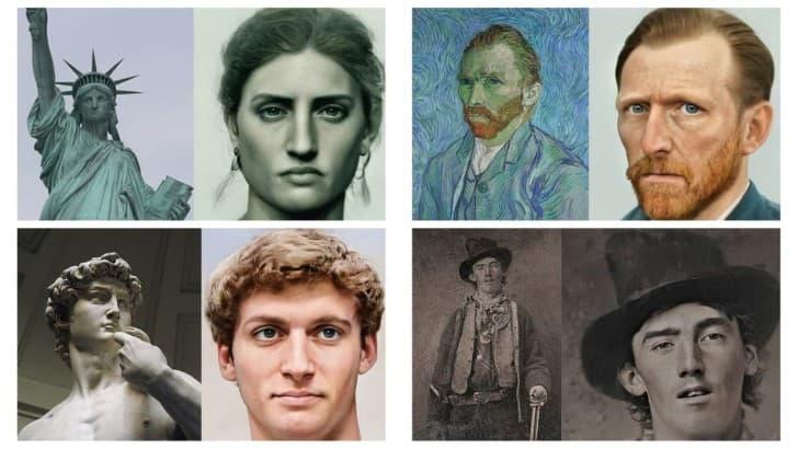 retratos realistas de famosos del pasado(1)
