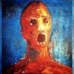 El hombre angustiado pintura