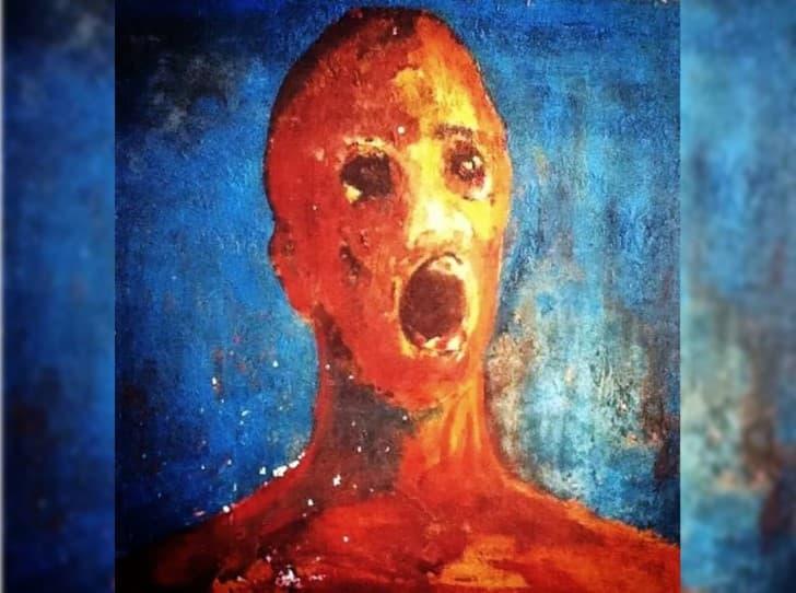 El hombre angustiado pintura(1)