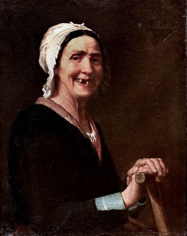 Narcisse Chaillou retrato de enfermera