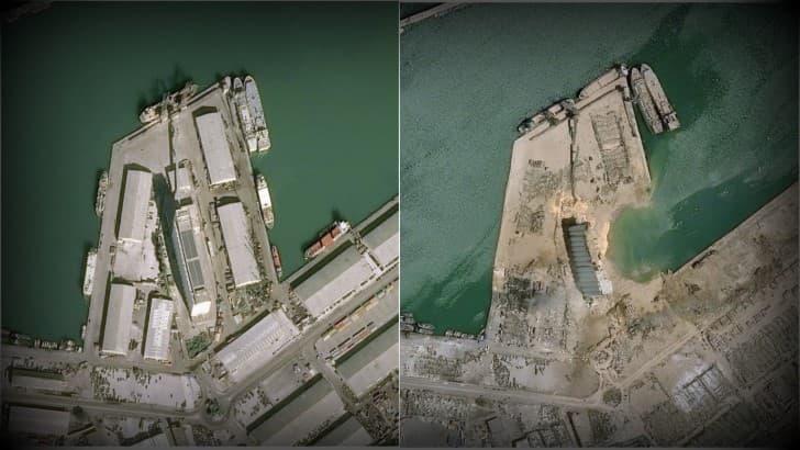 antes y despues explosion en Beirut 2020(1)