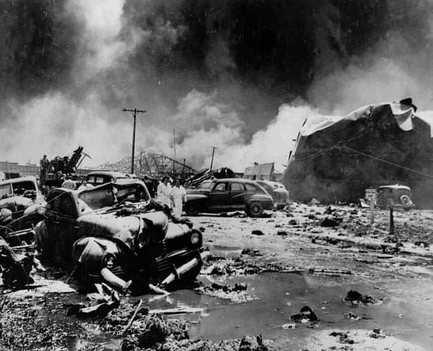 explosion en tejas
