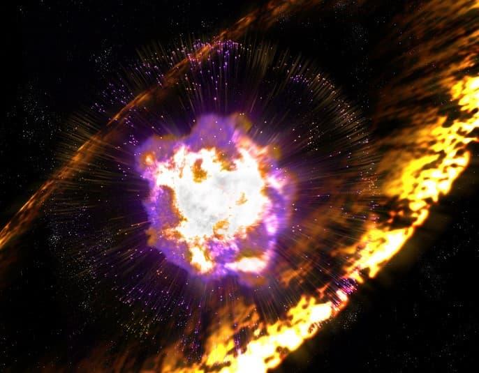 formacion de una supernova