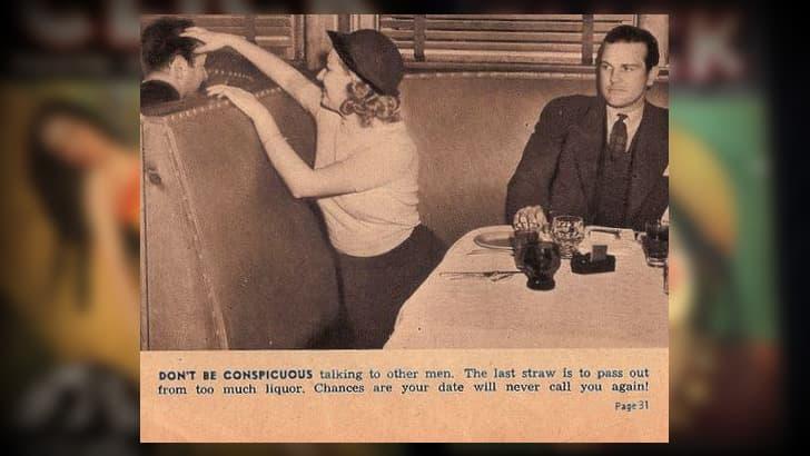no hablar con otros hombres consejos de ligue 1930