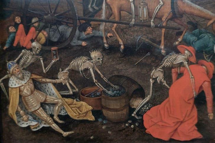 pintura de la muerte