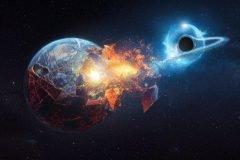 agujero negro destruye la tierra