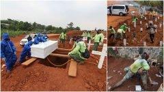 En Java, quienes no usan cubrebocas son obligados a cavar tumbas