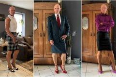 hombre con falda y tacones