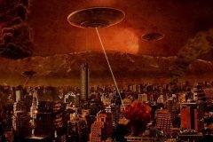 invasion extraterrestre en ciudad