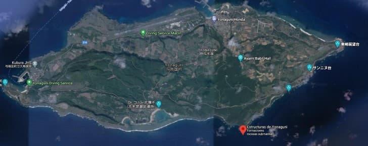 ubicacion monumento Yonaguni