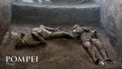 Moldean cuerpos de dos hombres que murieron en Pompeya