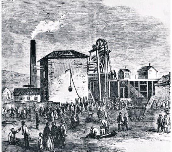 explosión en la mina de carbón Morfa de 1890