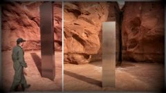Extraño monolito metálico aparece en el desierto de Utah