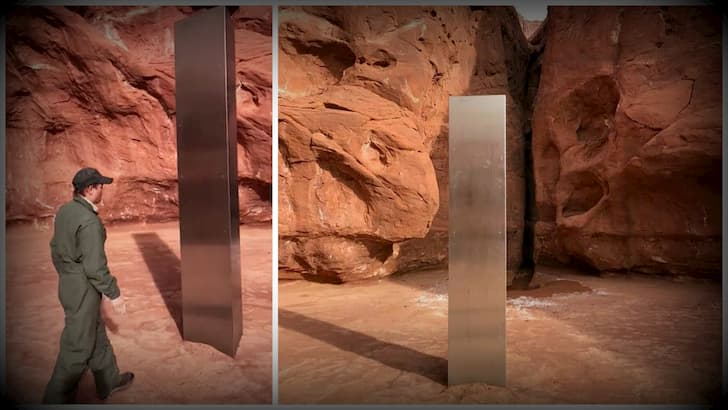 monolito metálico aparece en Utah(1)