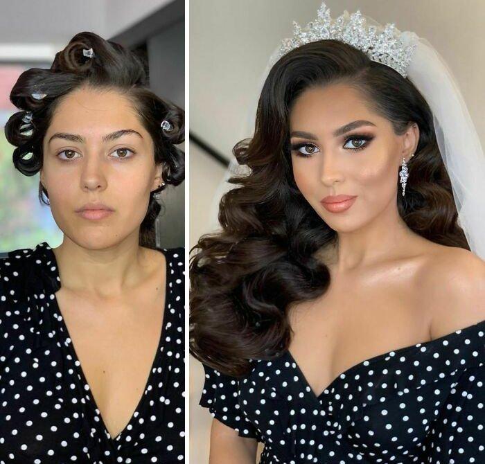 novias antes y despues del maquillaje bodas (10)