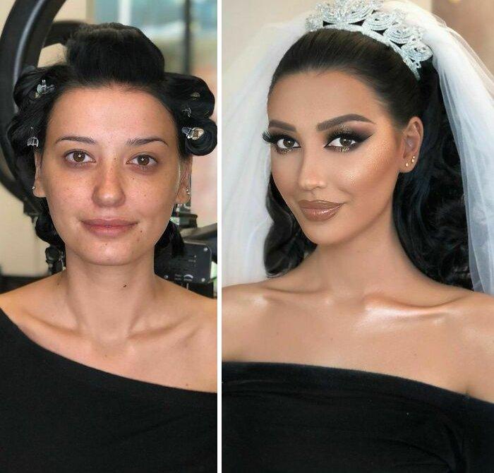 novias antes y despues del maquillaje bodas (12)
