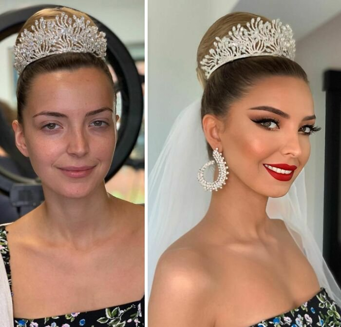 novias antes y despues del maquillaje bodas (13)