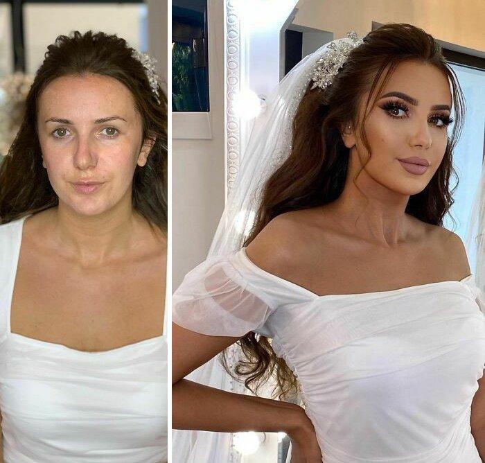 novias antes y despues del maquillaje bodas (17)