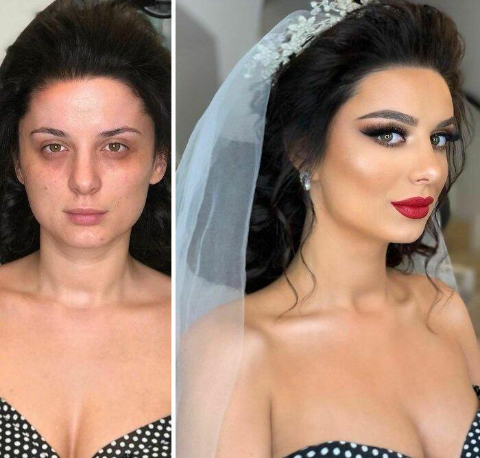 novias antes y despues del maquillaje bodas (19)