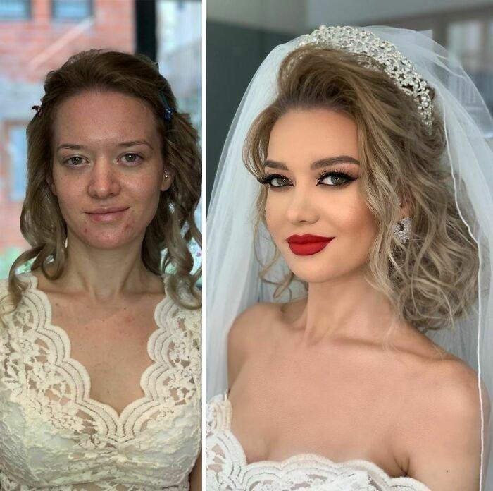 novias antes y despues del maquillaje bodas (2)