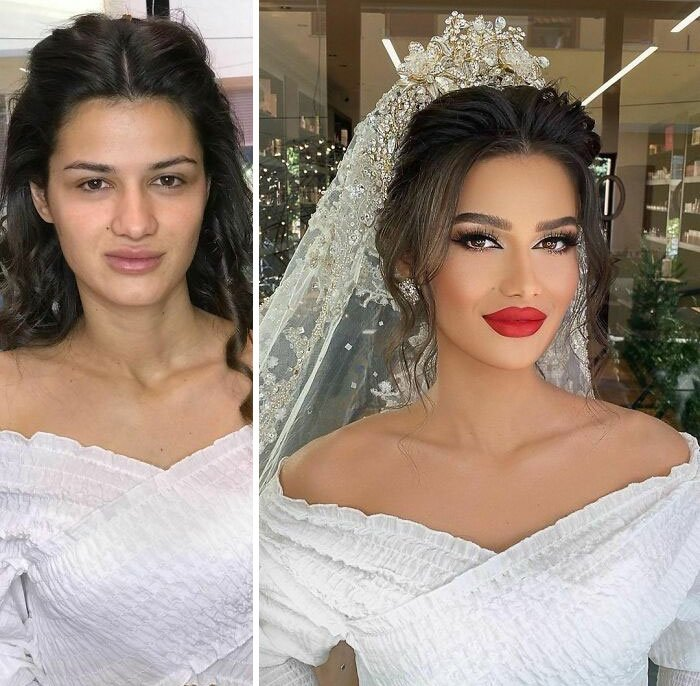 novias antes y despues del maquillaje bodas (4)