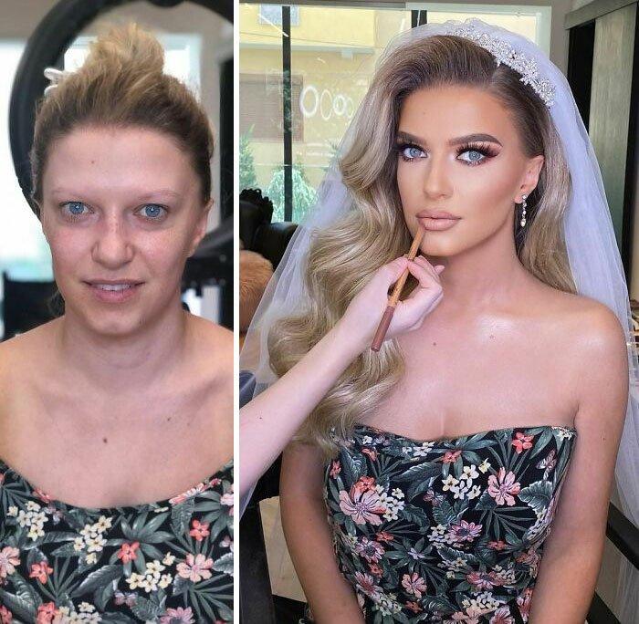 novias antes y despues del maquillaje bodas (5)