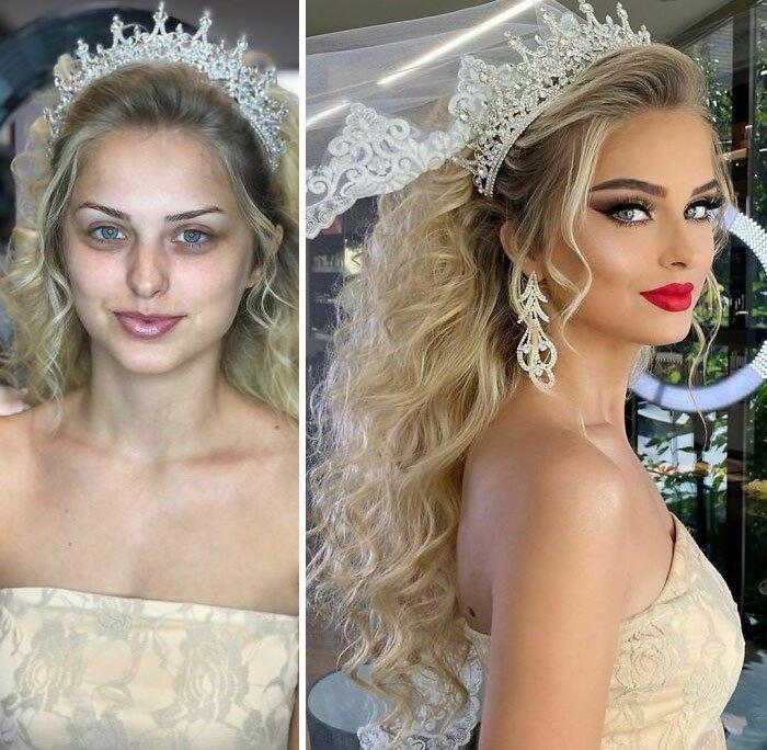 novias antes y despues del maquillaje bodas (6)