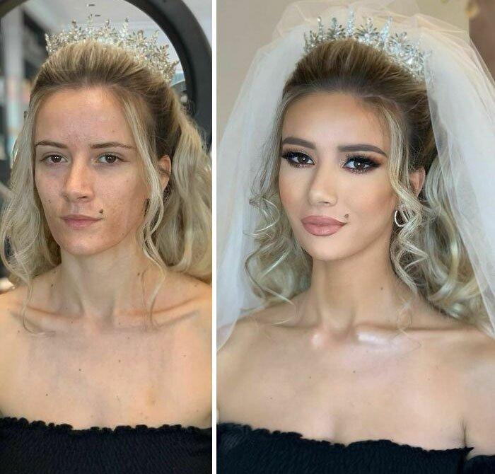 novias antes y despues del maquillaje bodas (8)
