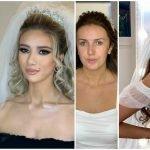 novias transformadas por el maquillaje