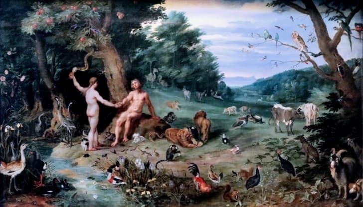 pintura adan y eva(1)