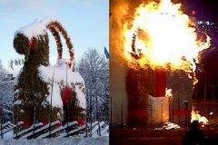 Cabra de Gävle incendiada