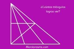 acertijo cuantos triangulos hay