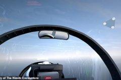 dramatrización ovni visto desde un avion de combate