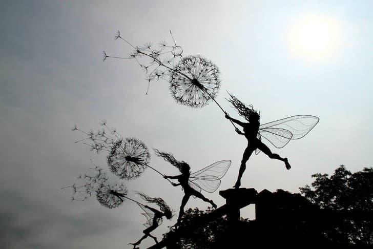 esculturas de alambre hadas (3)