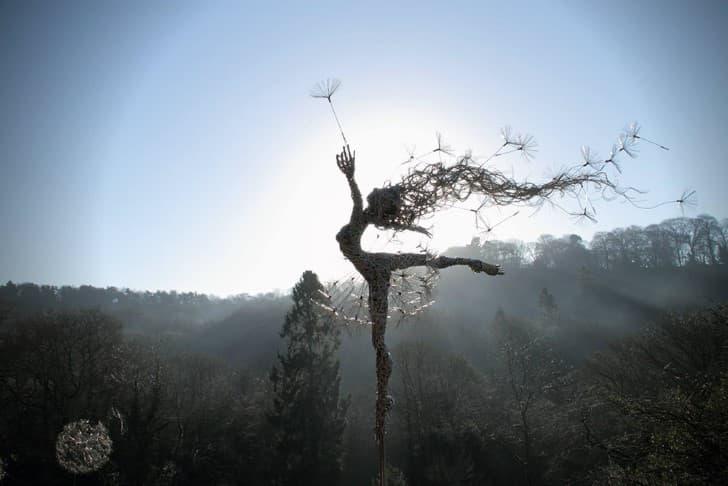 esculturas de alambre hadas (5)