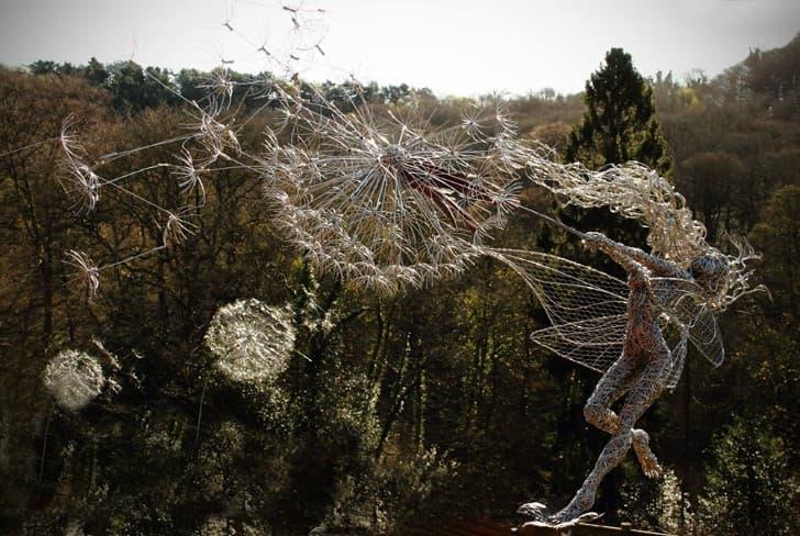 esculturas de alambre hadas (6)