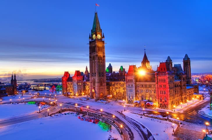 hora de dormir en Ottawa Canada