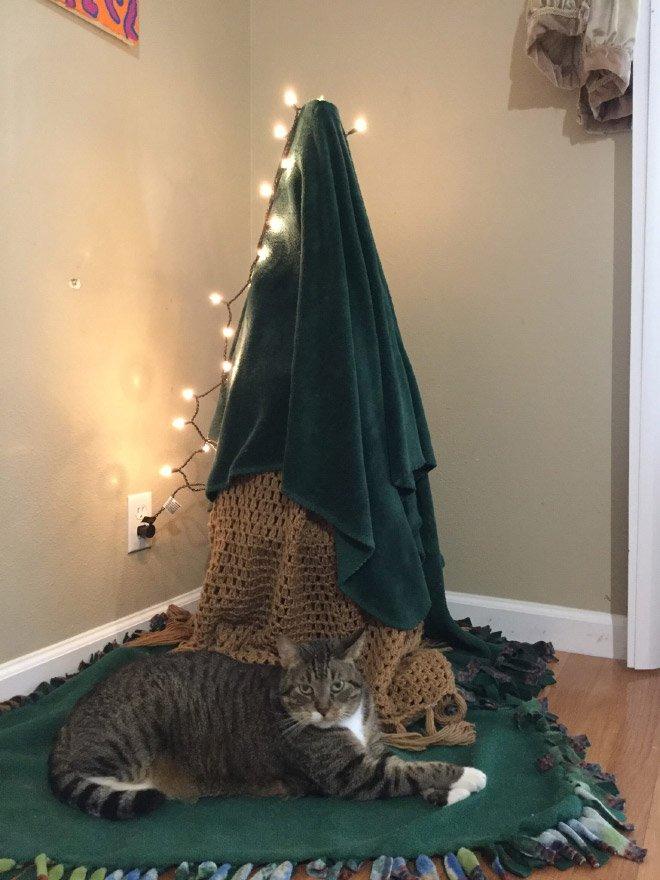 protegiendo arboles de navidad de las mascotas (17)