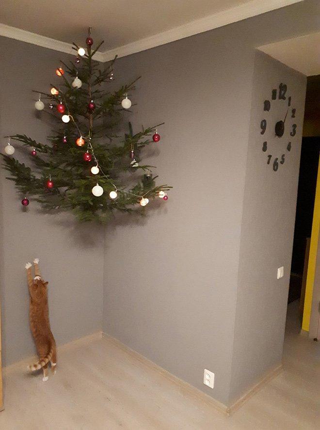 protegiendo arboles de navidad de las mascotas (2)
