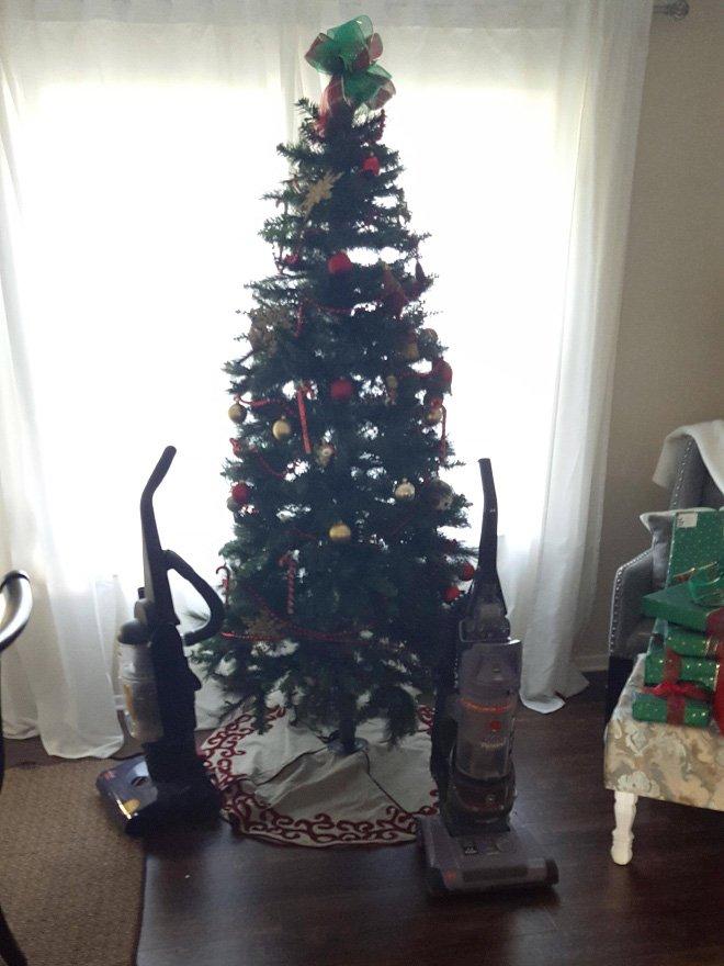 protegiendo arboles de navidad de las mascotas (8)