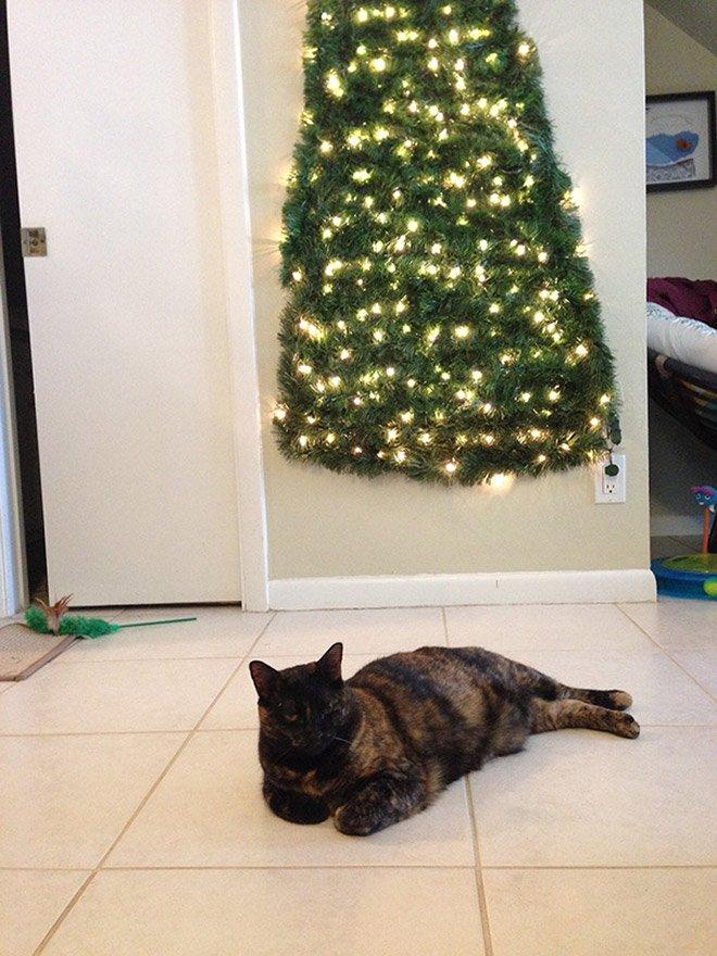 protegiendo arboles de navidad de las mascotas (9)