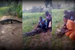 mujer atacada cocodrilo en Ghana