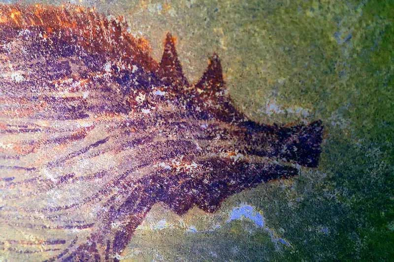 pintura rupestre más antigua en celebes Indonesia (1)(2)