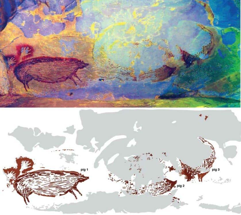 pintura rupestre más antigua en celebes Indonesia (2)(1)
